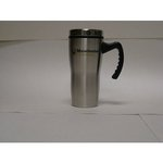 MU TRAVEL MUG SILVER WITH HANDLE