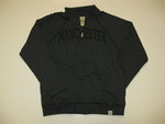 LEGACY CHARCOAL GRAY QUARTER ZIP W/MANCHESTER IN BLACK