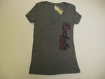 OURAY WOMENS V-NECK GRAY T-SHIRT SPARTANS DOWN SIDE