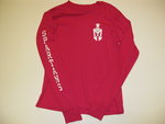LEAGUE HOT PINK LONG SLEEVE W/SPARTAN HEAD ON FRONT AND SPARTANS DOWN SLEEVE