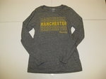 LEAGUE WOMENS OXFORD LONG SLEEVE W/MANCHESTER REPEATED & UNIVERSITY