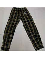 BOXERCRAFT FLANNEL BLACK/GOLD/WHITE PANT W/SPARTAN HEAD LOGO