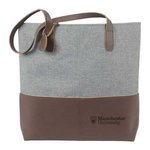 LEATHER HEATHERED TOTE