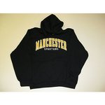 RUSSELL BLACK APPLIQUED MANCHESTER HOODIE