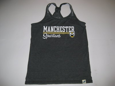 LEAGUE WOMENS TANK W/MANCHESTER, CREST AND CURSIVE SPARTANS