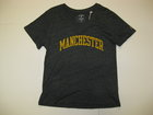 LEAGUE V-NECK GRAPHITE TSHIRT W/MANCHESTER IN GOLD