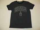 RUSSELL BLACK T-SHIRT W/GRAY MANCHESTER UNIVERSITY & SPARTANS