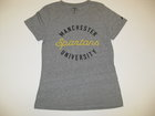 LEAGUE WOMENS REPREVE T-SHIRT W/MANCHESTER, CURSIVE SPARTANS & UNIVERSITY