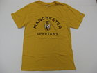 LEAGUE GOLD T-SHIRT W/MANCHESTER, SPARTAN HEAD & SPARTANS