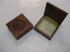 ROSEWOOD SMALL BOX W/MANCHESTER UNIVERSITY ENGRAVED SEAL