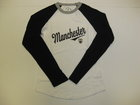 YOUTH LONG SLEEVE BASEBALL TEE W/MANCHESTER & CREST