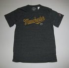 YOUTH GRAPHITE T-SHIRT W/MANCHESTER & CREST