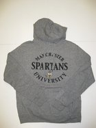 LEAGUE OXFORD HOODIE W/CIRCLE MANCHESTER, SPARTANS, SPARTAN HEAD AND UNIVERSITY