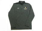 UNDER ARMOUR GRAPHITE/BLACK QUARTER ZIP W/EMBROIDERED LOGO