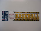 BASEBALL CAR DECAL