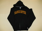 RUSSELL BLACK FULL ZIP HOODIE W/APPLIQUED GOLD MANCHESTER