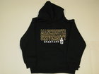 RUSSELL YOUTH BLACK HOODIE W/MANCHESTER UNIVERSITY & SPARTANS