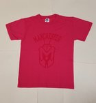 RUSSELL YOUTH HOT PINK T-SHIRT W/SPARTAN HEAD
