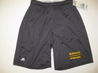 RUSSELL GRAPHITE SHORTS W/MANCHESTER & SPARTANS ON LEFT LEG