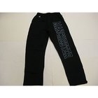 RUSSELL BLACK SWEATPANT W/MANCHESTER DOWN LEFT LEG IN GRAPHITE