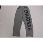 RUSSELL YOUTH GRAY SWEATPANT SPARTANS DOWN LEG