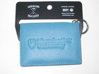 TURQUOISE LEATHER ID HOLDER